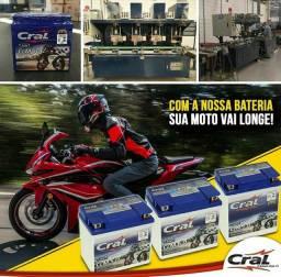 Baterias para Motos Cral 5Ah R$95,00