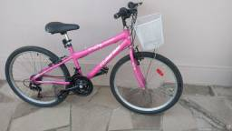 Bicicleta Mormaii aro 24 feminina 21 marchas com cestinha