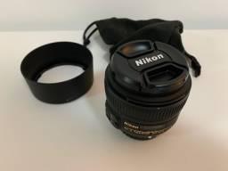 Lente Nikon Nikkor 50mm AF-S f1.8 em excelente estado