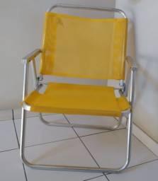 Cadeira de Praia Alta Alumínio
