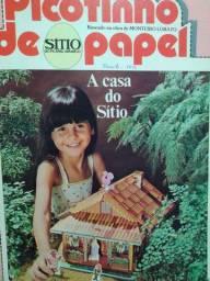 Revista picotinho de papel Sítio do PicaPau Amarelo- casa do sítio