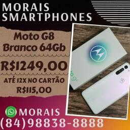 Smartphone Moto G8 64Gb  Branco (NOTA FISCAL E GARANTIA 12 MESES)