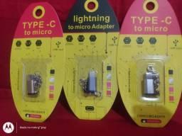 Adaptador tipo C p/V8 e ou iPhone 5 em diante p/V8 nova na embalagem aceito cartao