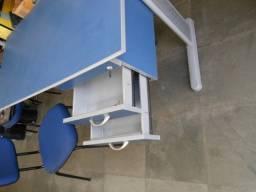 Mesa secretária (escrivaninha ) com 2 gavetas e cadeira