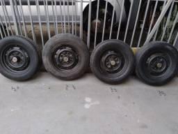 04 rodas originais VW Brasília Fusca