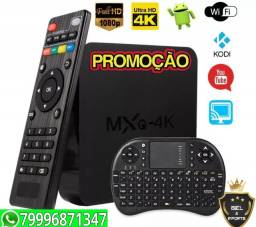 Midia Box mxq 4k 64 gb e 4gb Ram Android 10.1 Promoção