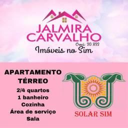 Apartamento térreo- 2/4 - SOLAR SIM - próx a FTC - Sim- R$ 650,00