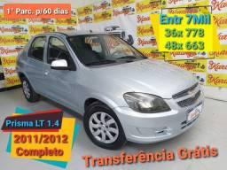 Prisma LT 1.4 2012 Completo Entr 7.500