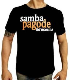 Camiseta camisa samba, pagode e resenha roupa masculina