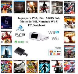 Jogos para PS1, Ps2, PS3, Nintendo Wii, nintedo Wii u