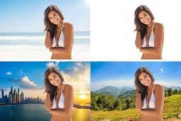 Melhorias em fotos e mudar fundo de fotos