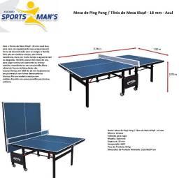 Mesa de ping-pong com rodinhas Klopf