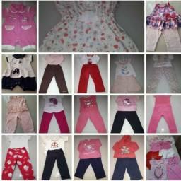 Lote de roupas bebê menina ( tamanho G)