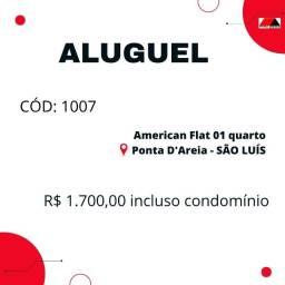 Cód: 1007 Apartamento 01 quarto mobiliado / American Flat - Ponta D'areia (Ponta da Areia)