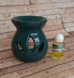 Difusor cerâmica e óleo de capim limão