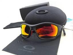 Óculos Oakley Pit Bull Ducati Preto/Vermelho com Lente Rubi Polarizada - Novo