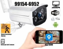 Camera Ip Externa Wi-fi Infra Vermelho Visao Noturna a prova dagua V380