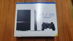 PS2 seminovo na caixa - Promoção com frete grátis