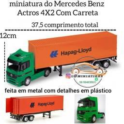miniatura do Mercedes Benz Actros 4X2 Com Carreta