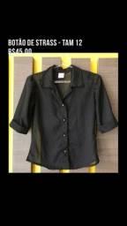 Camisa botão strass TAM 12