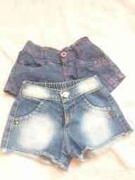 Shorts infantil feminino