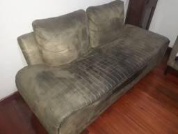 Sofá estilo camurça 2 lugares - usado