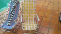 Cadeiras de praia e guarda sol