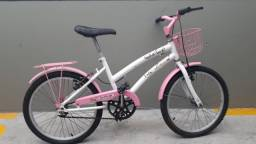 Bicicleta Infantil feminina - Susi usada. Aro 20 - Cor Rosa