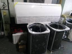 Ar condicionado split piso teto de 60.000 btus em estado de novo  somos loja