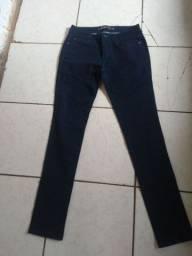 1 calça jeans tm 40 e 1 calça brilho