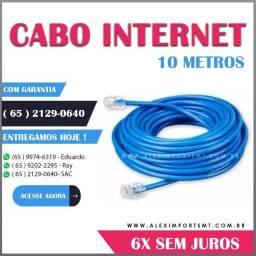 cabo para internet 10 metros revestido em pvc condutor de cobre