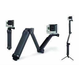 Bastão 3 Way com Tripé GoPro Câmeras de Ação