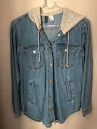 Camisa Jeans com Capuz H&M ? NOVA