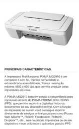Vende se Impressora Canon MG 2910 semi nova