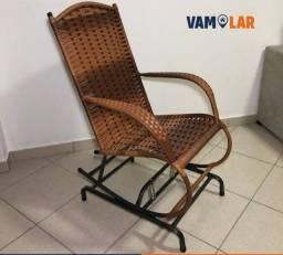 Cadeira balanço em fibra