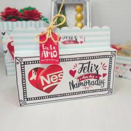 Presente para o dia dos namorados, caixa para barra de chocolate