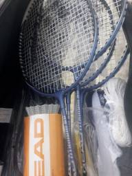 kit badminton 4 raquetes