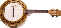 Banjo Rozini Profissional Eletro Acustico Natural Maple RJ13 EL