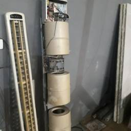 ventilador com turbinas e caracol  split tranne