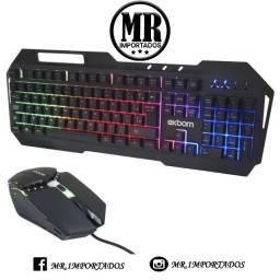 Kit Gamer led rgb  Teclado Metal + Mouse  Bk-g800 Exbom (fazemos entrega)