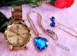 Kits relógios e cordão