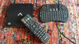 TV BOX 4K com TECLADO MULTIMÍDIA
