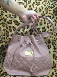 Bolsa de lado feminina estilo saco