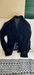 Blazer de veludo preto