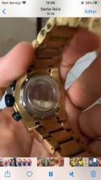 Lindo relógios invicta banhado a ouro 18k