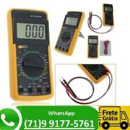 Multimetro Digital Aviso Sonoro Leitor Lcd + Capa Dt-9205a (NOVO)