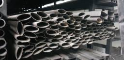 Tubo elíptico 45x20 mm parede 1,2 mm