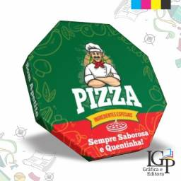 Caixa de Pizza personalizada P-35 - Off-set e silk