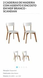Mesa de jantar + duas cadeiras