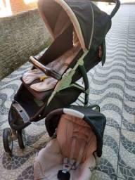 Kit carrinho+bebê conforto